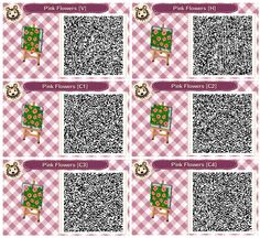 Pink Flower Beds by Quirkberry - Animal Crossing: New Leaf