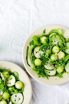 A refreshing blend of savory and sweet: Cucumber Honeydew Salad with Briny Feta! #recipe #salad