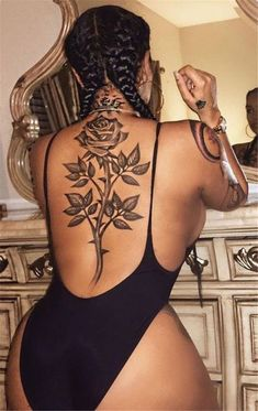 Gorgeous Back Tattoo Designs That Will Make You Look Stunning; Back Tattoos; Tattoos On The Back; Back tattoos of a woman; Little prince tattoos; Black Girls With Tattoos, Girl Back Tattoos, Black Tattoos, Body Art Tattoos, Cross Tattoos, Female Back Tattoos, Sleeve Tattoos, Tatoos, Sexy Tattoos For Girls