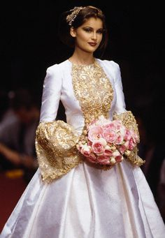 Laetitia Costa at Yves Saint Laurent Spring 1996.