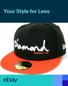 low priced e9013 d90b4 Cap OG Script Fitted Hat New Era 59Fifty Red Black Diamond