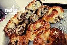 Zeytin Ve Ha�ha� Ezmeli A�ma Bagel, Bread, Buns, Food, Brot, Essen, Baking, Meals, Breads