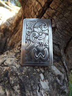 6791ed3d28a1 Silver money clip with custom brand or initials.