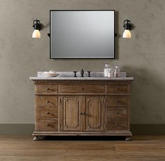 Love this... oval mirror. St. James Extra-Wide Single Vanity Sink