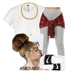 """""""."""" by trillest-queen ❤ liked on Polyvore featuring Neil Barrett, LAUREN MOSHI, NIKE, women's clothing, women, female, woman, misses and juniors"""