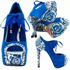 Amazing flower pin up shoes!! Love these, I would want them in many different colors!!