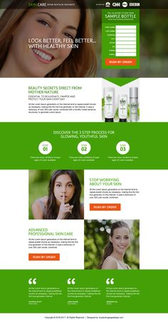 professional skin care trial lead capturing landing page design Minimal Website Design, Beautiful Website Design, Landing Page Builder, Landing Page Design, Website Design Inspiration, Website Template, Beauty Secrets, Skin Care, Ads