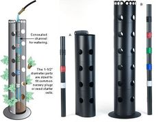 Flower Towers - Gardening (make this with PVC pipe and smaller pvc pipe with holes for water.):