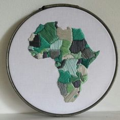 Africa hand embroidery