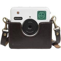 Polaroid Custom Designed Vintage-Inspired Genuine Leather Cradle for... ($30) ❤ liked on Polyvore featuring accessories and tech accessories