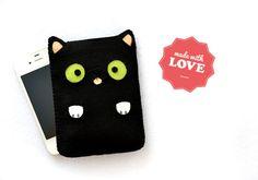 Mini cat - black - Smartphone iPhone Samsung HTC Sony case bag cover $27.07