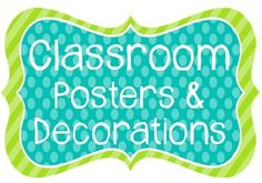 This item contains 200+ posters and signs to organize and label your classroom. The fun blue and green color scheme will brighten up your room! You will find a welcome poster, six table signs, cards for labeling cubbies or student folders, subject area posters, days of the week cards, months of the year cards, number cards (1-50), alphabet cards/Word Wall headers, Literacy Center/Station posters, and Daily 5 anchor chart labels! $