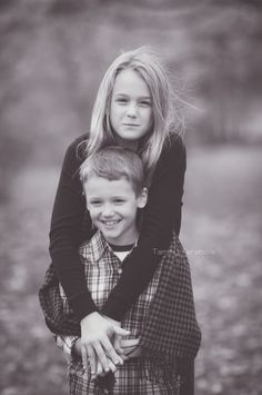 Two of my babes.  Brother and sister portrait.  Candid portrait.  Black and white matte photography.  Fall family portrait session ideas. Sibling portrait pose idea.  Tammy Tarabola