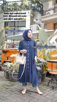 Modern Hijab Fashion, Muslim Fashion, Ootd Fashion, Fashion Outfits, Ootd Hijab, Casual Hijab Outfit, Hijab Mode Inspiration, Hijab Stile, Muslim Dress
