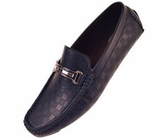Amali Mens Navy Checkered Smooth Driving Shoe Style Jaden-002 #Amali #LoafersSlipOns
