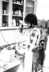 Vincent Racaniello in the lab, 1977 Lab, Science, Teaching, Flag, Learning, Labrador, Labs, Tutorials