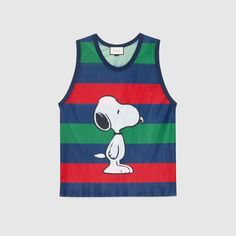 Mesh tank with Snoopy print