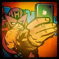 Superhero Selfies Hawk Eye by Butcher Billy