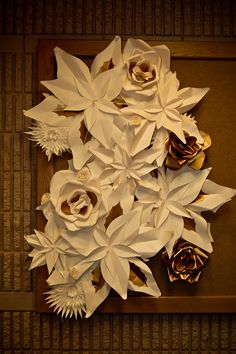 Large Paper flowers made for awesome decorations