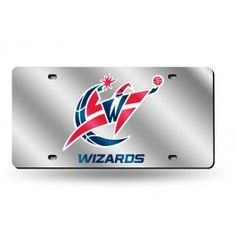 Washington Wizards Laser Etched License Plate/Tag (Silver)