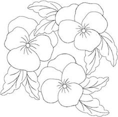 Trendy Embroidery Designs By Hand Flowers Appliques Ideas Hand Flowers, Embroidery Flowers Pattern, Flower Applique, Hand Embroidery Designs, Embroidery Stitches, Pearl Embroidery, Painting Patterns, Fabric Painting, Colouring Pages