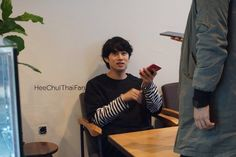 Heechul in Donghae 's Cafe