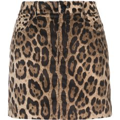 Dolce & Gabbana leopard print corduroy skirt (63.340 RUB) ❤ liked on Polyvore featuring skirts, brown, high waisted leopard skirt, dolce gabbana skirt, brown corduroy skirt, high-waist skirt and zip skirt