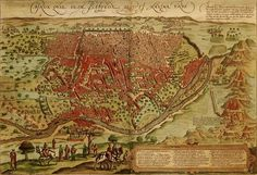 Map of Cairo in 1549