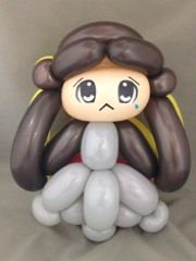 Two-sided balloon doll