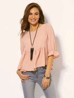 I fell in love whit this outfit Casual Outfits, Cute Outfits, Fashion Outfits, Womens Fashion, Fashion Trends, Casual Chic, Look Girl, Stylish Tops, Mode Hijab