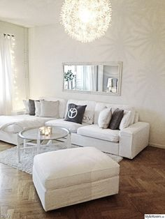 How to decorate your living room with the Kivik Sofa from Ikea - SOFA AND FOOTSTOOL- can be used as 2nd chaise lounge