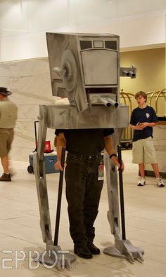 AT-ST Walker cosplay-I love cosplay people...they are not boring! ;-)