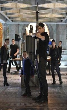Max and Alec in Bad Blood (that height difference is too adorable!) ... From the tv serie Shadowhunters ... the mortal instruments, alexander 'alec' lightwood, shadowhunters, matthew daddario, max lightwood, jack fulton