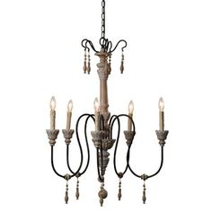 $240 Giselle Chandelier  jossandmain.com  To replace family room ceiling fan?