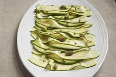 Patricia Wells' Zucchini Carpaccio with Avocado and Pistachios recipe on Food52