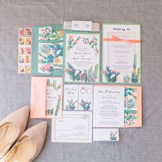 Michele + Mark, Beacon Lane Real Wedding, Desert Love Wedding Invitations, Botanical Wedding With Cactus Inspiration and Romantic Pastels