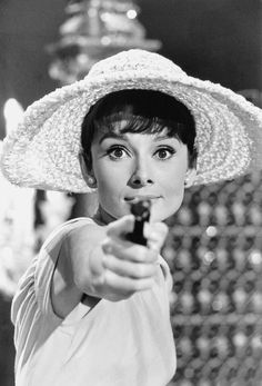Audrey Hepburn on the set of Patis When it Sizzles by Bob Willoughby