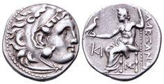 "AR Drachm. Greek, Kingdom of Macedon, Alexander III. ""the Great"", Lampsakos. Circa 310-301 BC. 16mm, 4,20g, 8h. Price 1406. Good VF. Price realized (2.7.2016): 89 EUR."
