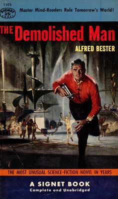 The Demolished Man, Alfred Bester (1954 paperback), cover by Stanley Meltzoff