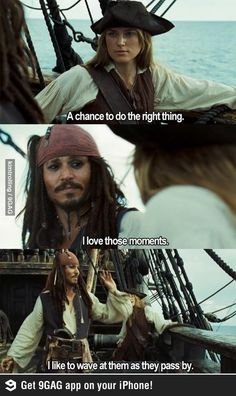 Hahahaha gotta love Jack Sparrow!!