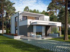 DOM.PL™ - Projekt domu TP Mikado CE - DOM TP1-83 - gotowy koszt budowy Home Design Decor, House Design, Home Decor, Design Case, Architect Design, Plans, Home Fashion, Modern, Bali