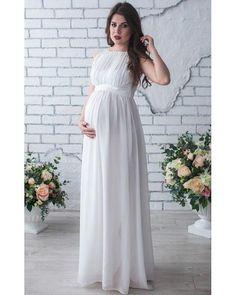 7bd6902bb701f O-Neck Princess Cut Maternity Lace Maxi Dress | Lollabuy White Maxi Dress  Casual,