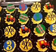 Train Themed Edible Fondant Cupcake Toppers - 12 Pieces by Sugar Love & Happiness on Gourmly