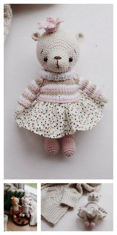 Amigurumi Lying Bear Free Pattern – Amigurumi Free Patterns And Tutorials Cute Crochet, Crochet Crafts, Crochet Hooks, Knitting Projects, Crochet Projects, Knitting Toys, Amigurumi Patterns, Crochet Patterns, Tiny Teddies