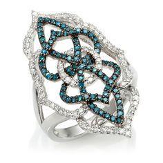 Jewelry Diamond : Rarities: Fine Jewelry with Carol Brodie Blue and White Diamond Sterling. - Buy Me Diamond Gems Jewelry, Dainty Jewelry, Cute Jewelry, Luxury Jewelry, Charm Jewelry, Boho Jewelry, Diamond Jewelry, Vintage Jewelry, Jewelry Accessories