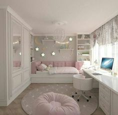 Teenage Girls Bedroom Ideas is part of Dream rooms - Every young girl dreams of a uniquely personal space to call her own, yet nailing down a durable search for a teenage girl's bedroom can be a particularly troublesome undertaking Cute Bedroom Ideas, Cute Room Decor, Awesome Bedrooms, Bedroom Themes, Cool Rooms, Trendy Bedroom, Girls Bed Room Ideas, Teen Bedroom Colors, Modern Bedroom