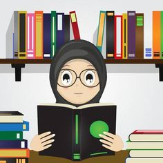 Find Cartoon Muslim Girl Reading Bookvector Illustration stock images in HD and millions of other royalty-free stock photos, illustrations and vectors in the Shutterstock collection. Thousands of new, high-quality pictures added every day. Anime Girl Drawings, Anime Art Girl, Emoji People, Reading Cartoon, Girl Reading Book, Anime Muslim, Hijab Cartoon, Muslim Girls, Illustration Girl