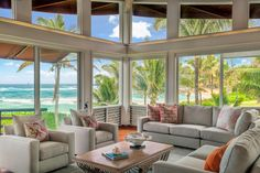 Tour a Contemporary Estate in Haena, Hawaii | HGTV.com's Ultimate House Hunt >> http://www.hgtv.com/design/ultimate-house-hunt/2015/glass-houses/glass-houses-contemporary-estate-in-haena-hawaii?soc=pinhuhh