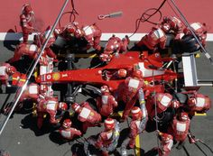 F1 pit stop. Oh yeah!