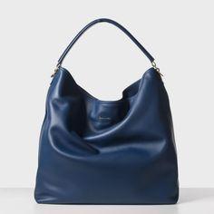 Paul Smith Women's Handbags | Royal Blue Calf Leather Hobo Bag